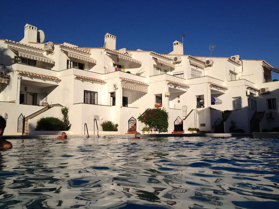 View from the communal pool