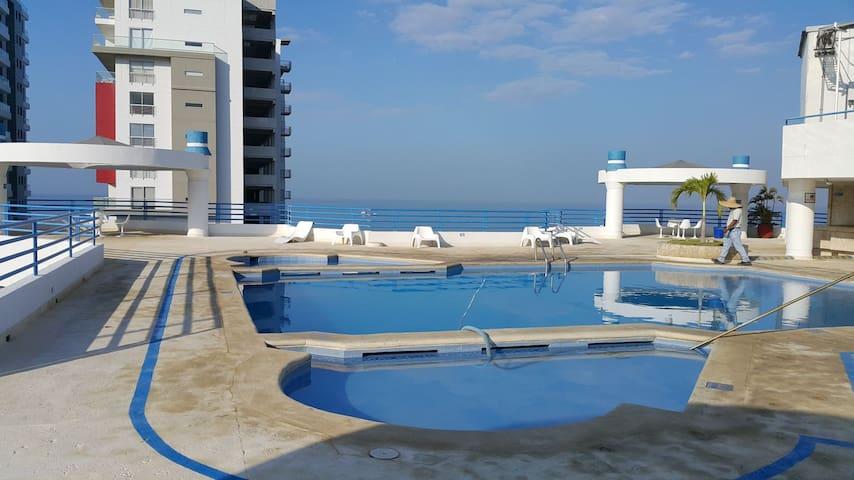 Hermoso Apartamento a 50 metros de playa - Santa Marta (distrito turístico, cultural e histórico) - Apartamento