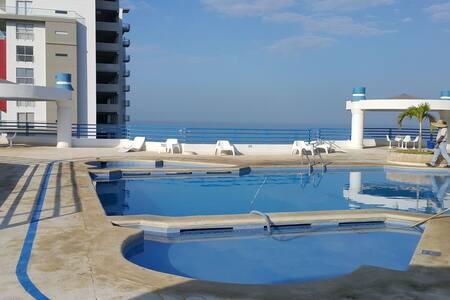 Hermoso Apartamento a 50 metros de playa - 圣玛尔塔 - 公寓