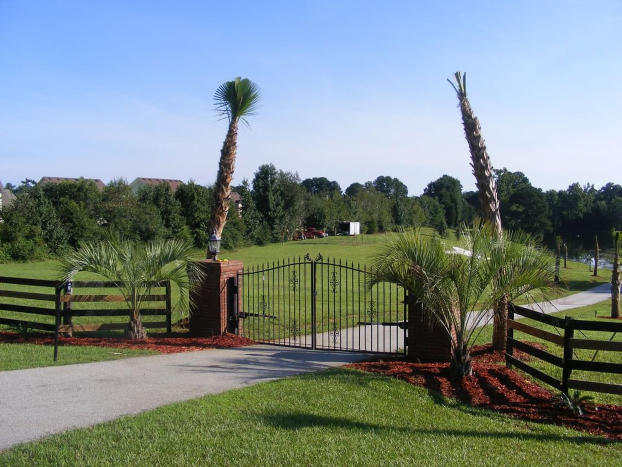 Main Gate to the Property.