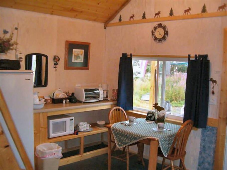 Kitchenette in Cozy Moose Cabin