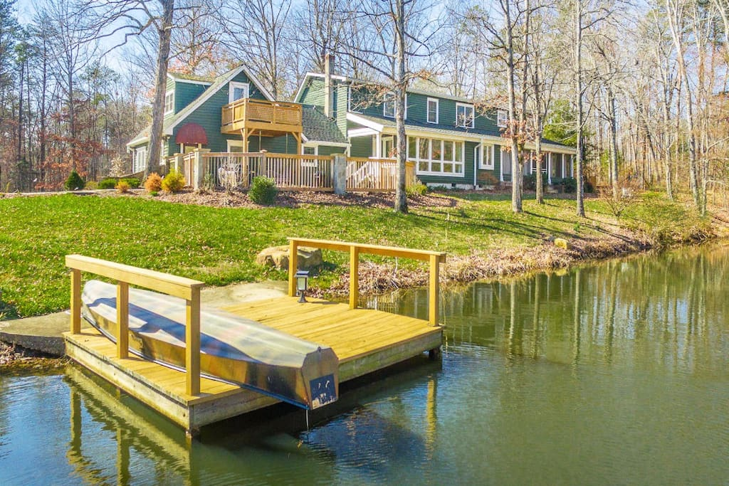 Main House. Small boat and stand up paddle board for your enjoyment.