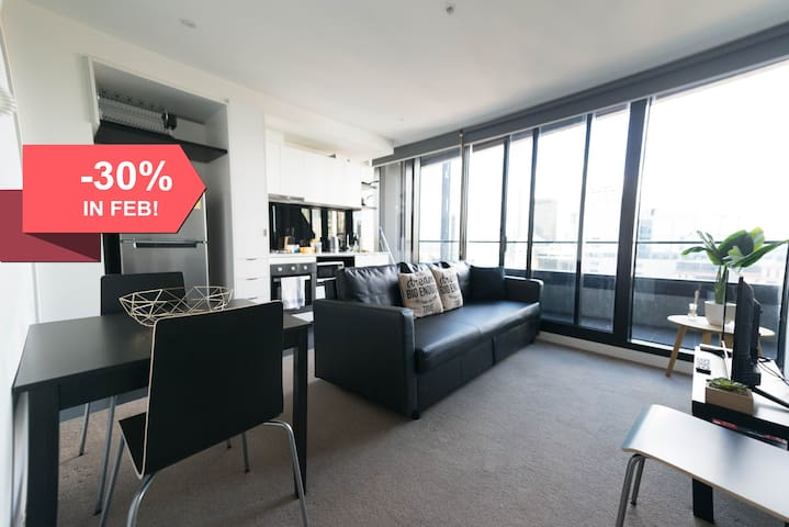 A Modern CBD Suite with a View of the Yarra
