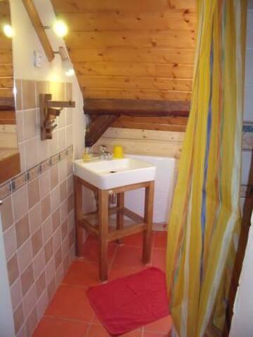 Arechettaz, Chambre de 2 dans chalet en montagne