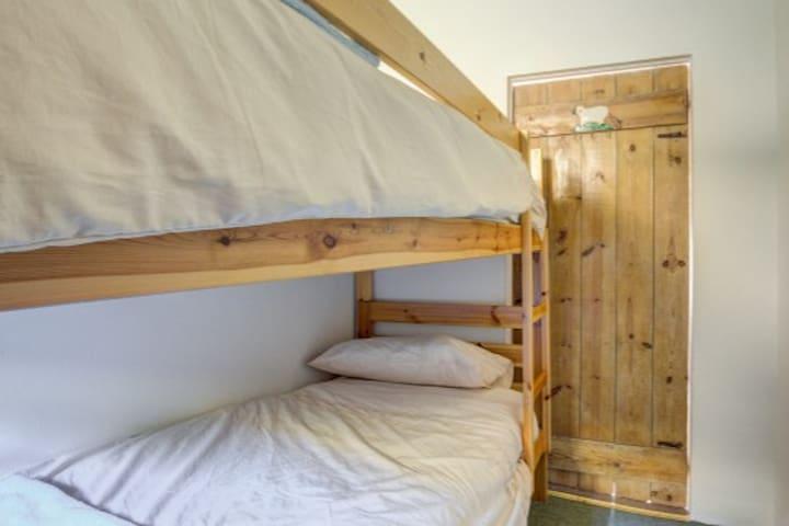 Full size single bunks.