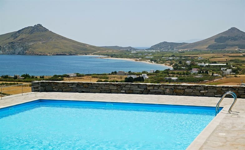 villa with sea view and pool - Naousa - Hus