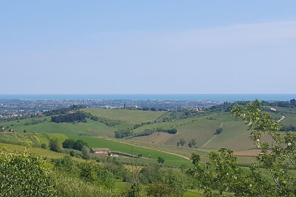 Vista panoramica della riviera romagnola