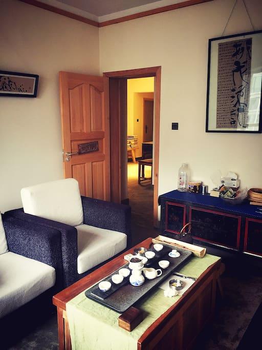 可供喝茶聊天的功夫茶室