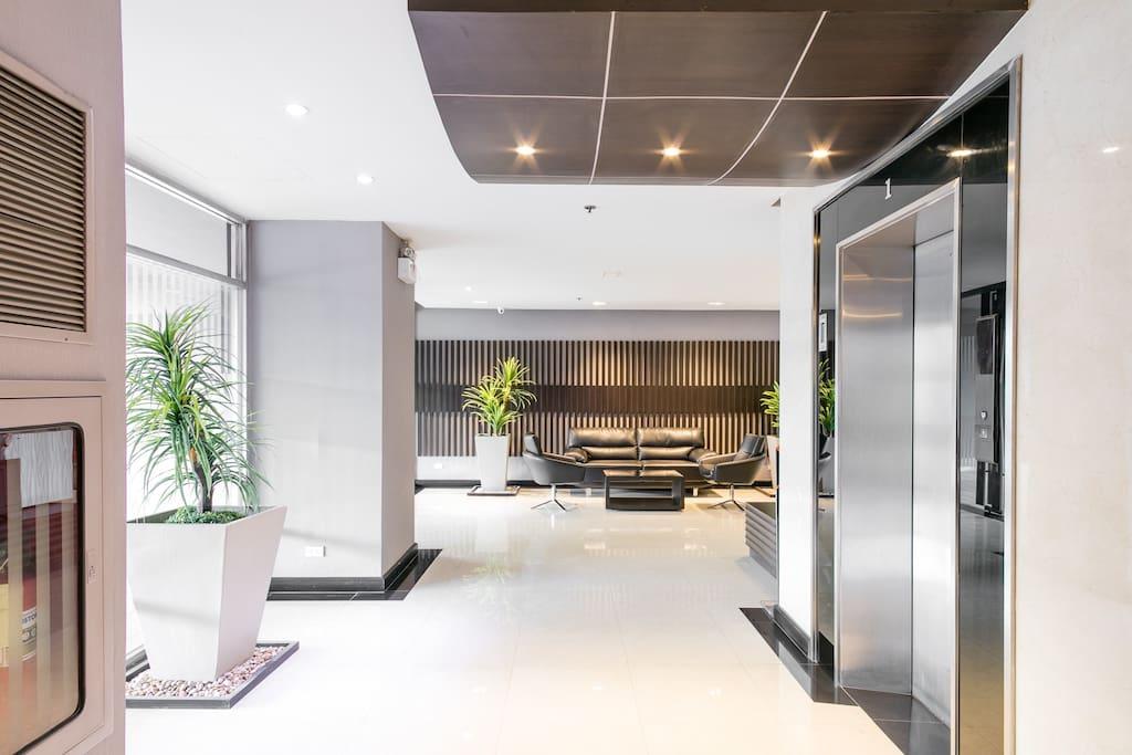 Lobby and elevator