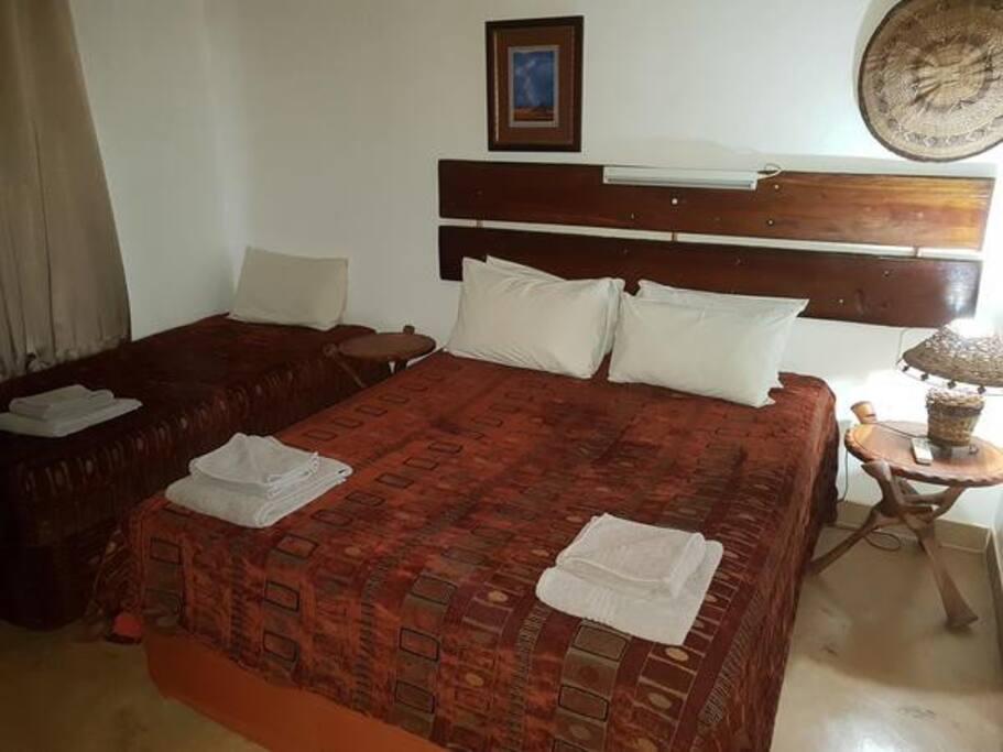 3 Bedroom Self-Catering Chalet - Main Bedroom