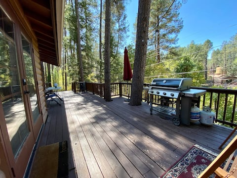 Cabin by the Creek Backing Forest Service Land