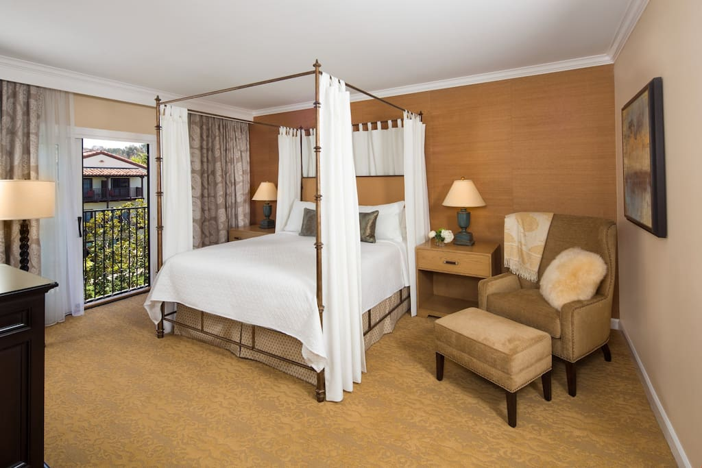 Sink into the luxurious king bed at the end of a relaxing day.