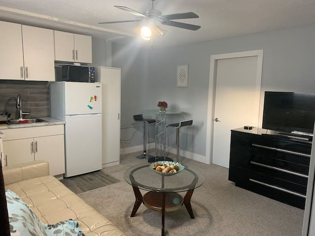 Cozy One bedroom basement suite with laundry.