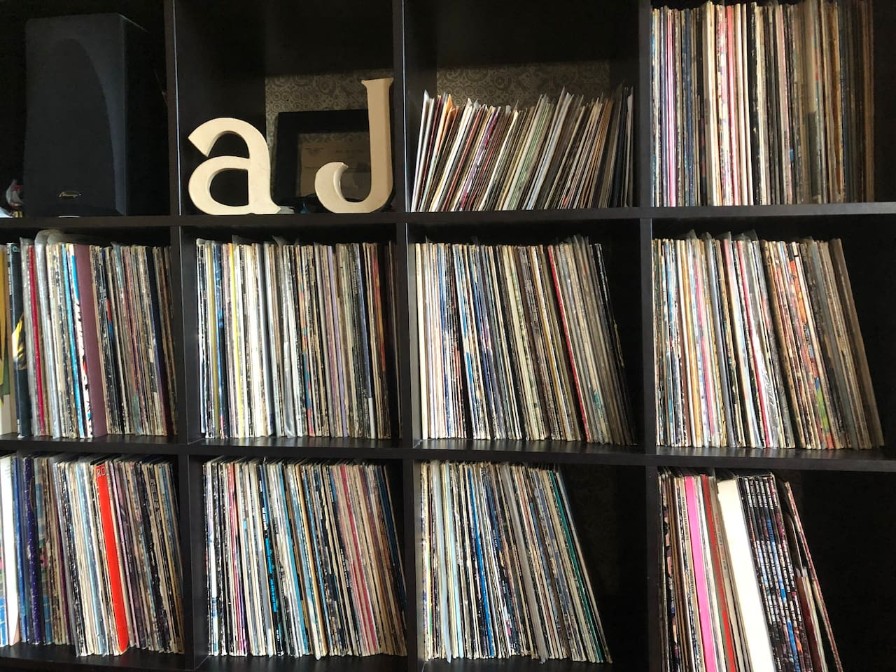Music lovers will love this record collection with over 1,000 records in numerous genres,