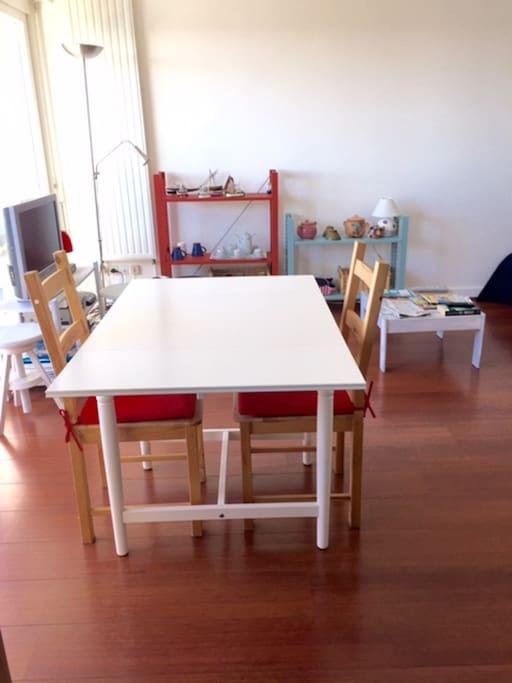 La table avec ses rallonges