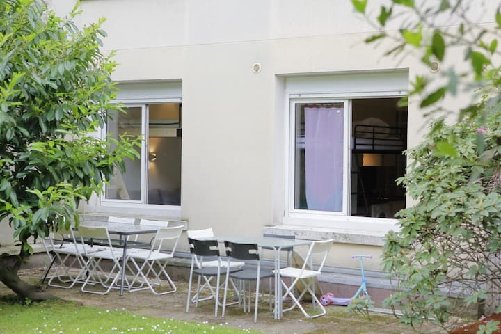 PARIS ST MANDE STUDIO - QUIET WITH PRIVATE GARDEN, BOURGEOIS NEIGHBORHOOD - Saint-Mandé - Appartement