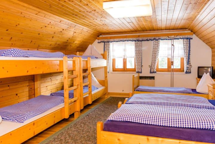 Kleines Zimmer mit Stockbett für 7 am Zirbitz