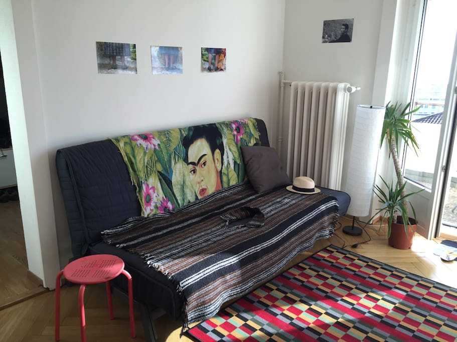 Sofa can be made into a double bed also.