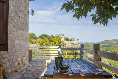 A stone house with an exceptional panoramic view