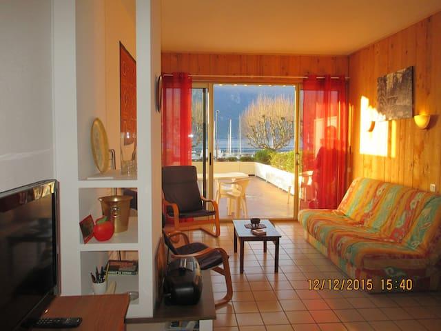 Grand Studio 35m² avec Terrasse sur le Grand port - Aix-les-Bains - Condominium