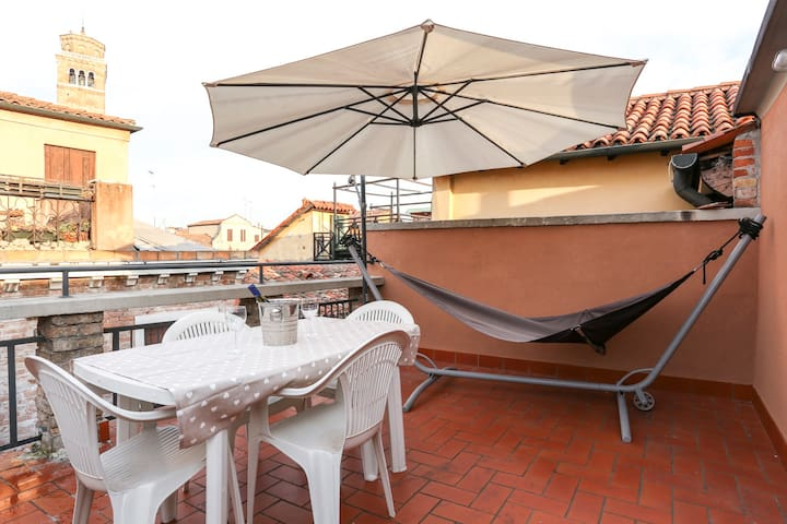 Nice flat, best position and amazing roof terrace! - Venezia - Leilighet