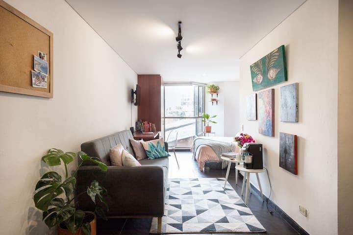 Comfortable Loft Apartment in Chapinero Alto