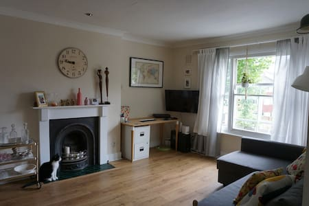 Spacious room in light and breezy flat in London