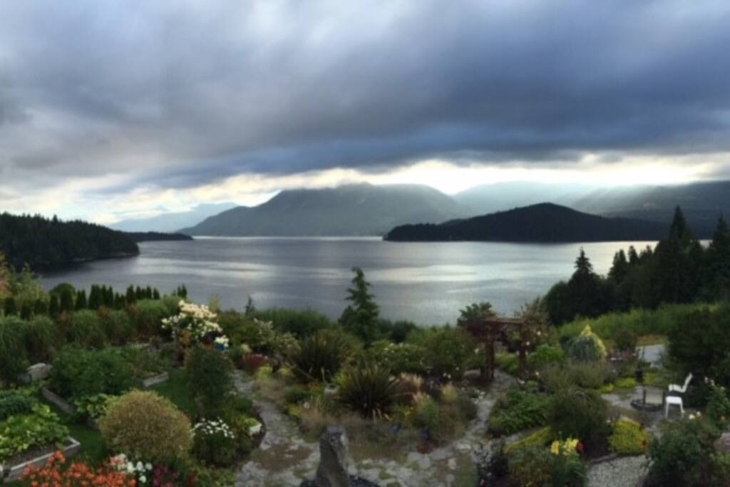 View of Garden and Sechelt Inlet