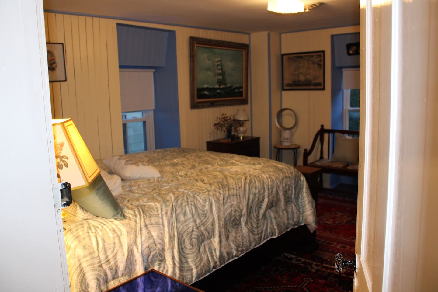 This room is named after Robert Harper who in 1761 established a ferry across the Potomac River, making the town a starting point for settlers moving into the Shenandoah Valley and further west. We dedicated this room to one of the earliest to recognize the beauty and quiet of this place, but also at his core wanted to facilitate adventures... We believe his spirit lives on in the Rivers Crossing room...