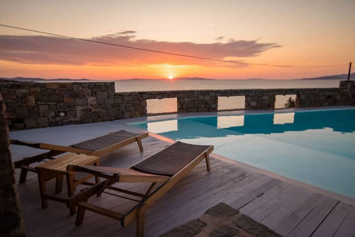 180°View PRIVATE Pool Villa Choulakia to enjoy SUN kissing SEA!