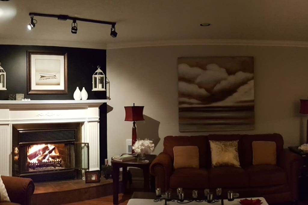 Fire Place and sitting area