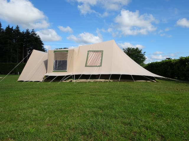 Spacious 5persons family tent in Drenthe