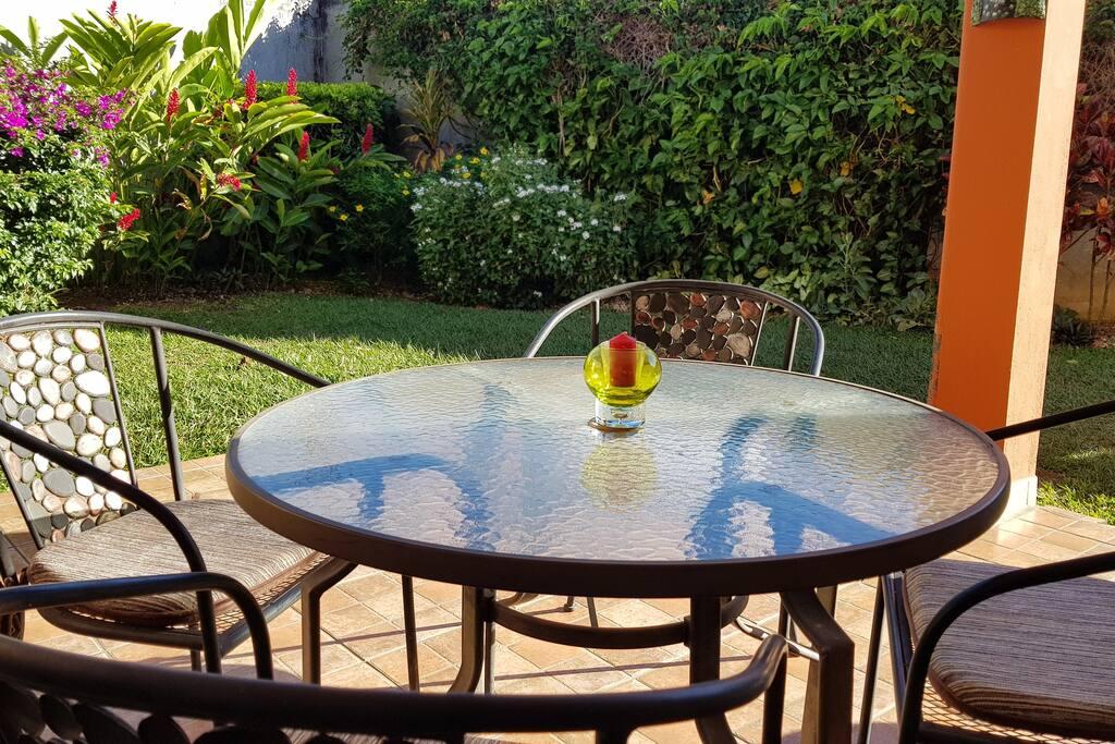 Terraza con amplio jardin - Terrace with garden