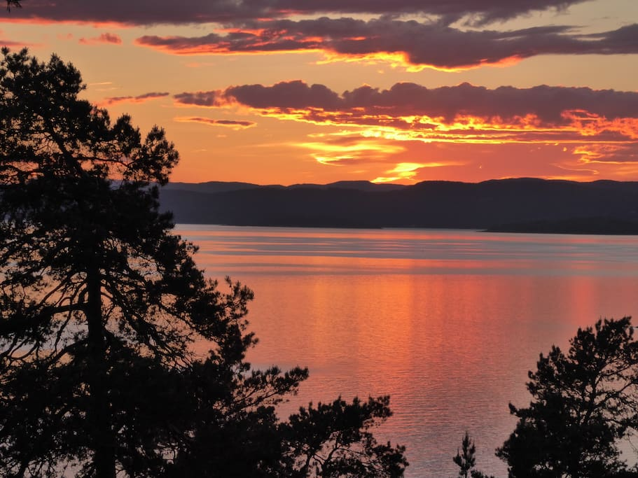 Vakreste solnedgang ved Oslofjorden?