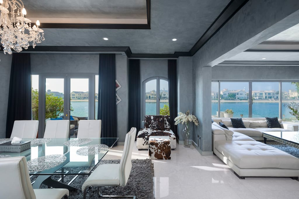Main Room opens up to the 180 degree water views