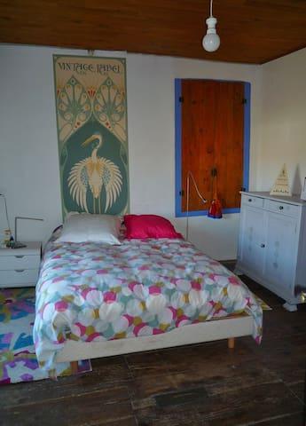 Maison d'artiste près du lac de Montbel.