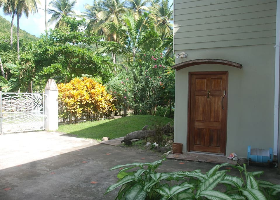 Your own private entrance in the secure garden