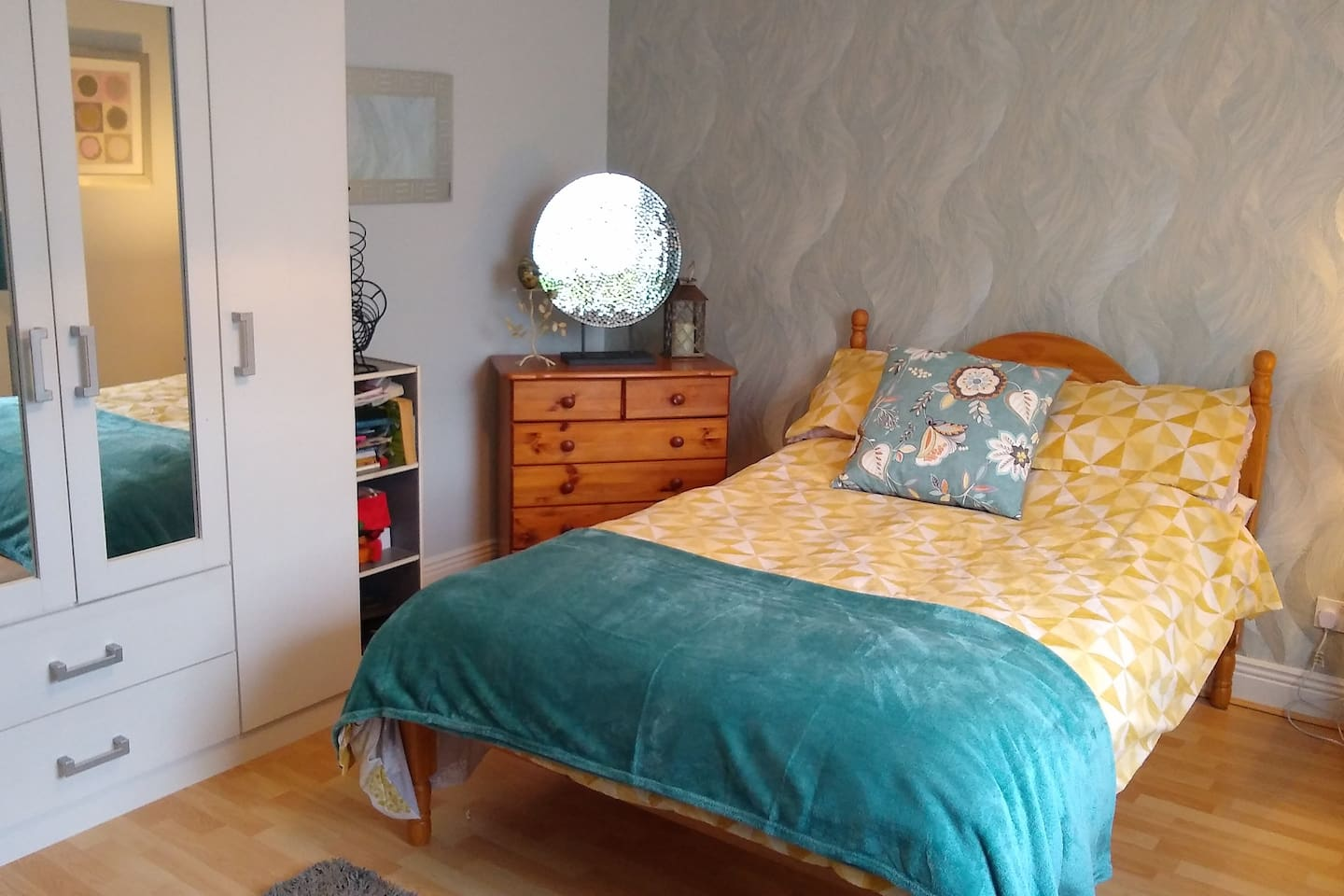 Large ground floor double bedroom Opposite bath and shower room