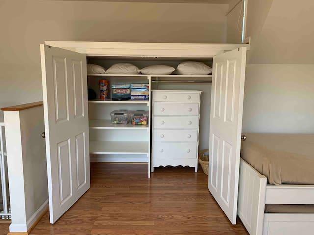 Loft bedroom closet
