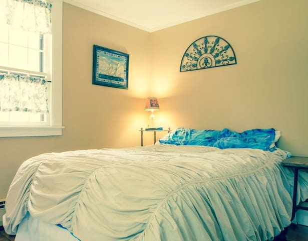 A simple double or twin bed will be available.