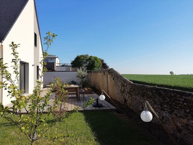 Maison de  2016,  6 pers, entre Caen et plages.
