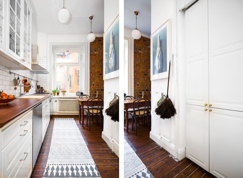 Kitchen - fridge/freezer to your right