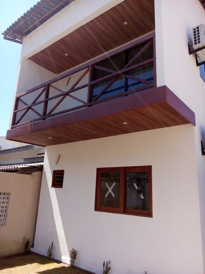 Chalé  c/ varanda, 1º andar da foto. Praia da Pipa
