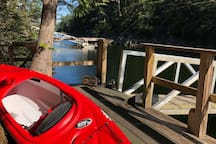NEW single kayak for guests to use May15- Sept 30 only!
