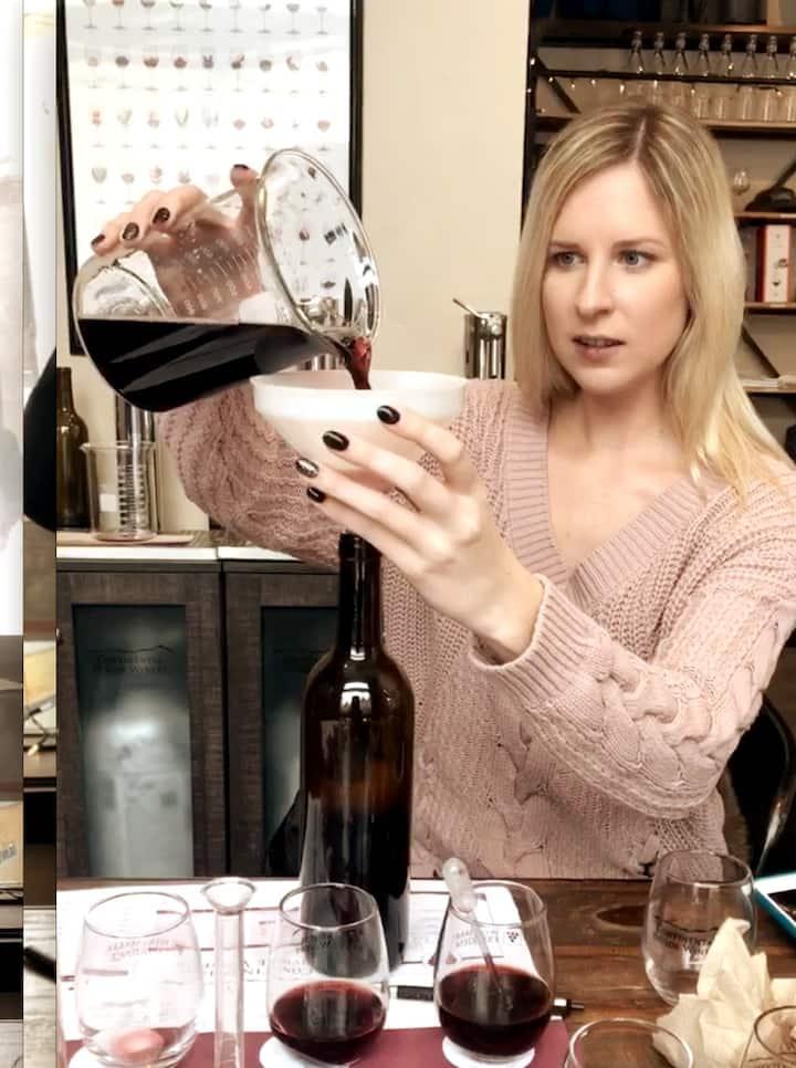 Bottle your unique wine creation.