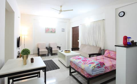 Spacious 1BHK with carpark , terrace near HSR