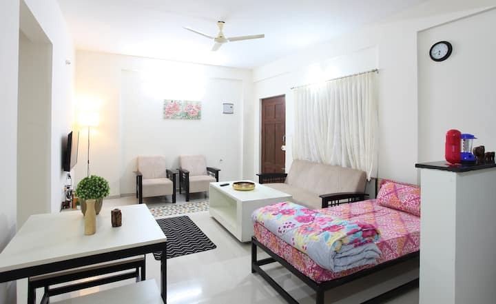 Spacious 1BHK with carpark and terrace spaces.