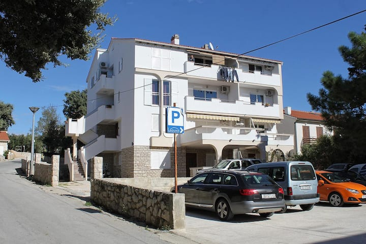 Studio flat with air-conditioning Novalja, Pag (AS-12413-a)
