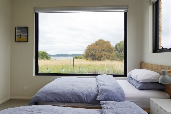 Even the single beds have a view, every detail of this house has been covered.