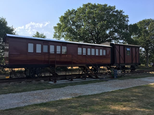 1880's Railway Carriage in the Essex Countryside